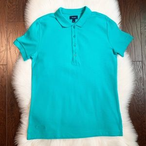 Faconnable Men's Turquoise Polo Shirt Top